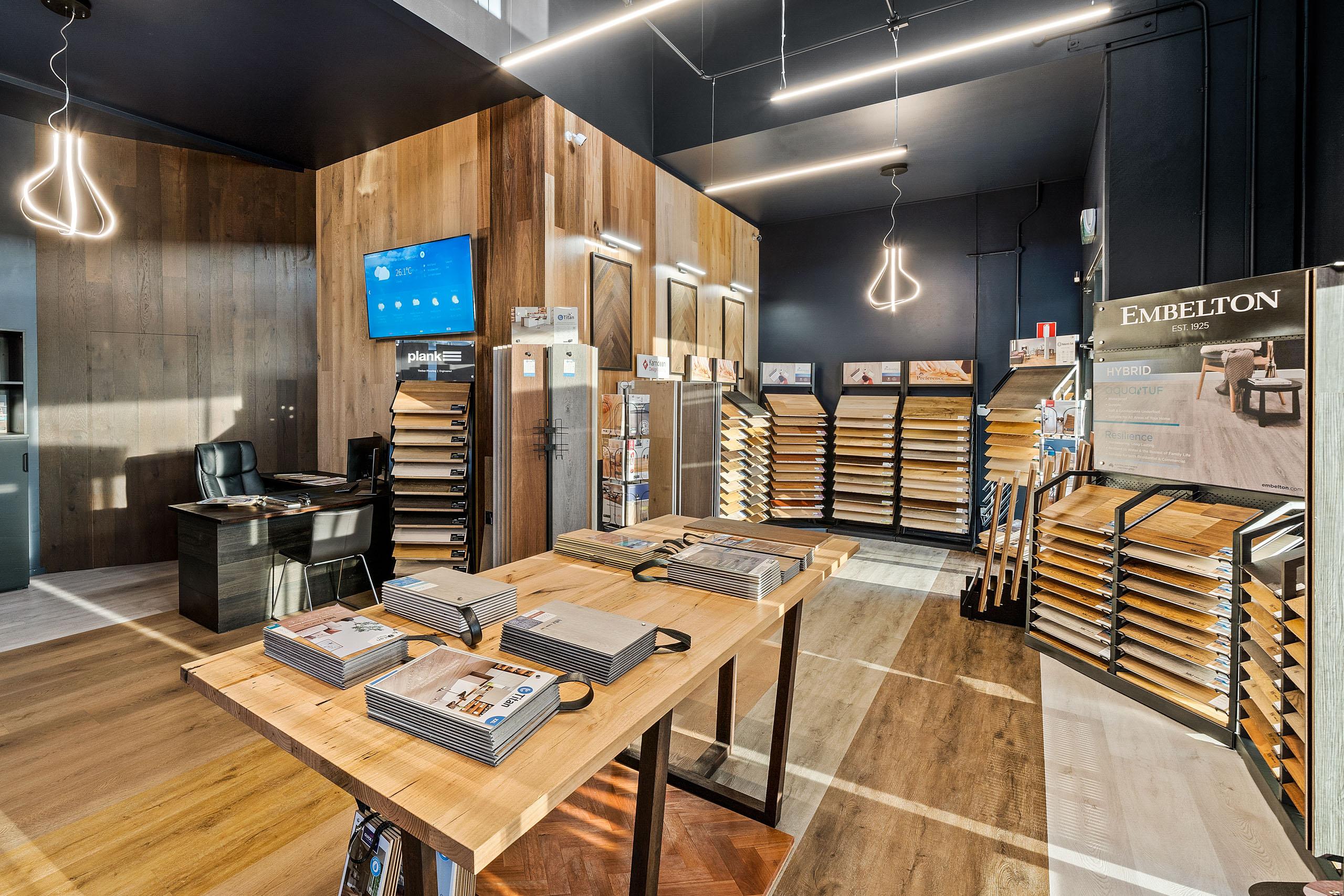 Commercial Fitting LKV Timber Flooring Showroom